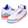 NIKE AIR JORDAN 3 RETRO KNICKS white/old royal-univ orange 136064-148画像