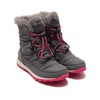 SOREL YOUTH WHITNEY (TM) SHORT LACE QUARRY/ULTRA PINK NY1897-053画像