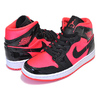 NIKE WMNS AIR JORDAN 1 MID bright crimson/black BQ6472-600画像
