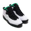 NIKE AIR JORDAN 10 RETRO WHITE/BLACK-COURT GREEN-AMARILLO 310805-137画像
