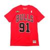 Mitchell & Ness N&N Trad T-Shirts #91 D.Rodman RED BNN319045-CBURD画像