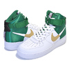NIKE AIR FORCE 1 HIGH 07 LV8 1 NBA PACK white/clover-club gold-black BQ4591-100画像