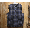 "SUGAR CANE FICTION ROMANCE ""21oz. WOOL CHECK CRUISER VEST"" SC14540画像"
