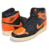 NIKE AIR JORDAN 1 RETRO HI OG SHATTERED BACKBOARD 3.0 black/starfish-pale vanilla 555088-028画像