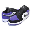NIKE AIR JORDAN 1 LOW (GS) white/black-court purple 553560-125画像