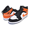 NIKE JORDAN 1 MID (PS) black/starfish-starfish-white 640734-058画像