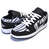 NIKE AIR JORDAN 1 LOW(GS) ZEBRA black/black-white 553560-057画像
