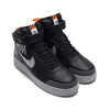 NIKE AIR FORCE 1 HIGH '07 LV8 2 BLACK/WOLF GREY-DARK GREY-TOTAL ORANGE CQ0449-001画像