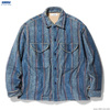 RADIALL TRENCH - OPEN COLLARED SHIRT L/S (ATLANTIC BLUE)画像