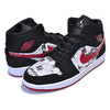 NIKE AIR JORDAN 1 MID SE NEWSPAPER AIR TIMES black/gym red-white 852542-061画像
