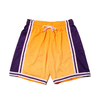 Mitchell & Ness Old English Swingman Shorts LA.Lakers YELLOW SMSHEF18023-LAL画像