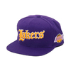 Mitchell & Ness Old English SNAP BACK- LA.Lakers PURPLE 6HSSEF18025-LAL画像