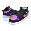 NIKE JORDAN 1 MID ALT (PS) black/total orange AR6351-083画像