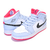 NIKE AIR JORDAN 1 MID (GS) harf blue/black-white 555112-400画像
