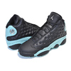 NIKE AIR JORDAN 13 RETRO (GS) ISLAND GREEN black/metallic silver 884129-030画像