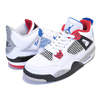 NIKE AIR JORDAN 4 RETRO (GS) WHAT THE 4 white/military blue-fire red 408452-146画像