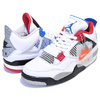 NIKE AIR JORDAN 4 RETRO SE WHAT THE 4 white/military blue-fire red CI1184-146画像