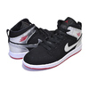 NIKE JORDAN 1 MID(PS) black/gym red-metallic silver 640734-057画像