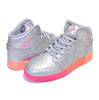 NIKE AIR JORDAN 1 MID (GS) metallic silver/racer pink 555112-006画像