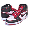 NIKE AIR JORDAN 1 HI OG BLOOD LINE black/gym red-white 555088-062画像