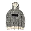 UGG Logo Hoodie Sweatshirt Print OFF WHITE/ BLACK 1116670-OWBK画像