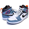 NIKE AIR JORDAN 1 MID SE FACETASM FEARLESS white/black-celestial teal CU2802-100画像