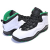NIKE AIR JORDAN 10 RETRO (GS) SEATTLE white/black-court green 310806-137画像