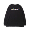 atmos LOGO FOIL PRINT LONG SLEEVE T-SHIRT BLACK AN-05画像