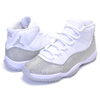 NIKE WMNS AIR JORDAN 11 RETRO white/metallic silver AR0715-100画像