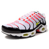 NIKE AIR MAX PLUS WHITE/LASER CRIMSON/LEMON/BLACK CI3714-100画像