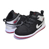 NIKE JORDAN 1 MID (TD) black/gym red-metallic silver 640735-057画像