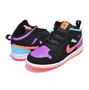 NIKE JORDAN 1 MID (TD) black/total orange 640735-083画像