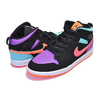 NIKE JORDAN 1 MID PS black/total orange 640734-083画像