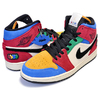 NIKE AIR JORDAN 1 MID SE FEARLESS BLUE THE GREAT muslin/black-varsity red-royal CU2805-100画像