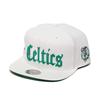 Mitchell & Ness Old English Snap Back - B.Celtics WHITE 6HSSEF18025-BCE画像