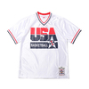Mitchell & Ness Auth Shooting Shirts USA92-#9 M.Jordan WHITE ASH18430-USA92画像