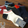 FRED PERRY TIPPED RIB ANKLE SOCKS F19938画像