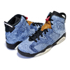 NIKE AIR JORDAN 6 RETRO (GS) WASHED DENIM washed denim/black-sail CV5489-401画像