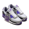 NIKE W AIR MAX 90 WHITE/PARTICLE GREY-HYPER GRAPE-BLACK CD0490-103画像