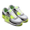NIKE W AIR MAX 90 WHITE/PARTICLE GREY-VOLT-BLACK CD0490-101画像