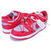 NIKE DUNK LOW LTHR OFF-WHITE university red/university red CT0856-600画像