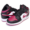 NIKE AIR JORDAN 1 MID (GS) BRED TOE black/noble red-white 554725-066画像