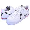 "NIKE AIR FORCE 1 REACT ""D/MS/X"" WHITE/BLACK/UNIVERSITY RED CD4366-100画像"
