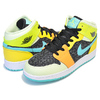 NIKE AIR JORDAN 1 MID SE(GS) St.Patrick Day black/aurora green-opti yellow BQ6931-037画像