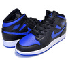 NIKE AIR JORDAN 1 MID(GS) black/hyper royal-white 554725-068画像
