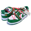 NIKE DUNK LOW LTHR OFF-WHITE white/pine green-pine green CT0856-100画像