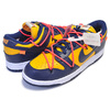NIKE DUNK LOW LTHR OFF-WHITE university gold/midnight navy CT0856-700画像