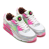 NIKE W AIR MAX 90 LX WHITE/ILLUSION GREEN-LASER FUCHSIA-BLACK CQ2559-100画像