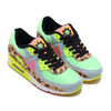NIKE W AIR MAX 90 LX ILLUSION GREEN/SUNSET PULSE-BLACK-WHITE CW3499-300画像