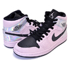 NIKE WMNS AIR JORDAN 1 MID IRIDESCENT barely rose/black-black-multi BQ6472-602画像